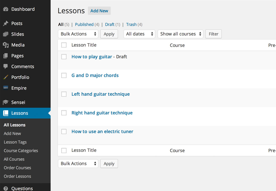 Sensei - teach courses from your WordPress website