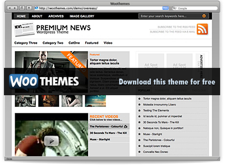 wordpress page template - premium news