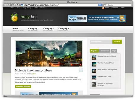 wordpress page templates - busy bee