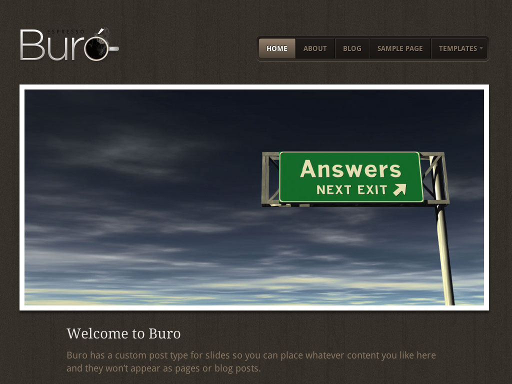 Buro woothemes for Buro website