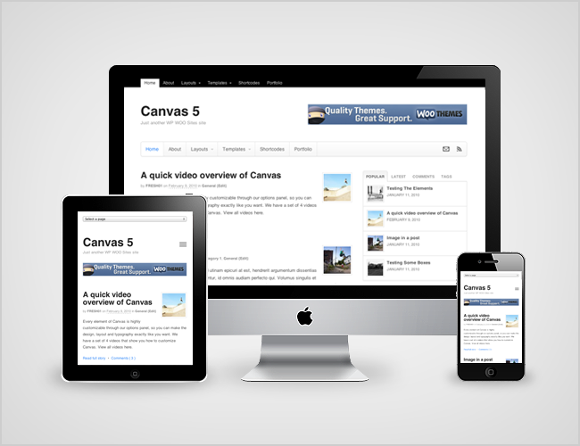 Canvas by WooThemes for better web design