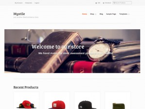 The Mystile theme homepage, showcasing your content and brand image.