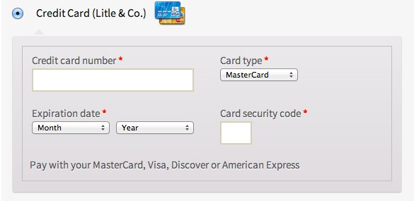 The checkout form.