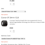"""A Composite Product in Single-Page mode: The """"Canon 5D-6D Full Frame Enthusiast Kit""""."""