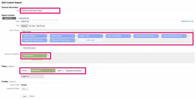custom report setup for gust post conversions - Pic 4