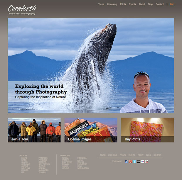 The Cornforth Images homepage.
