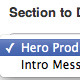 introductory message / Hero product