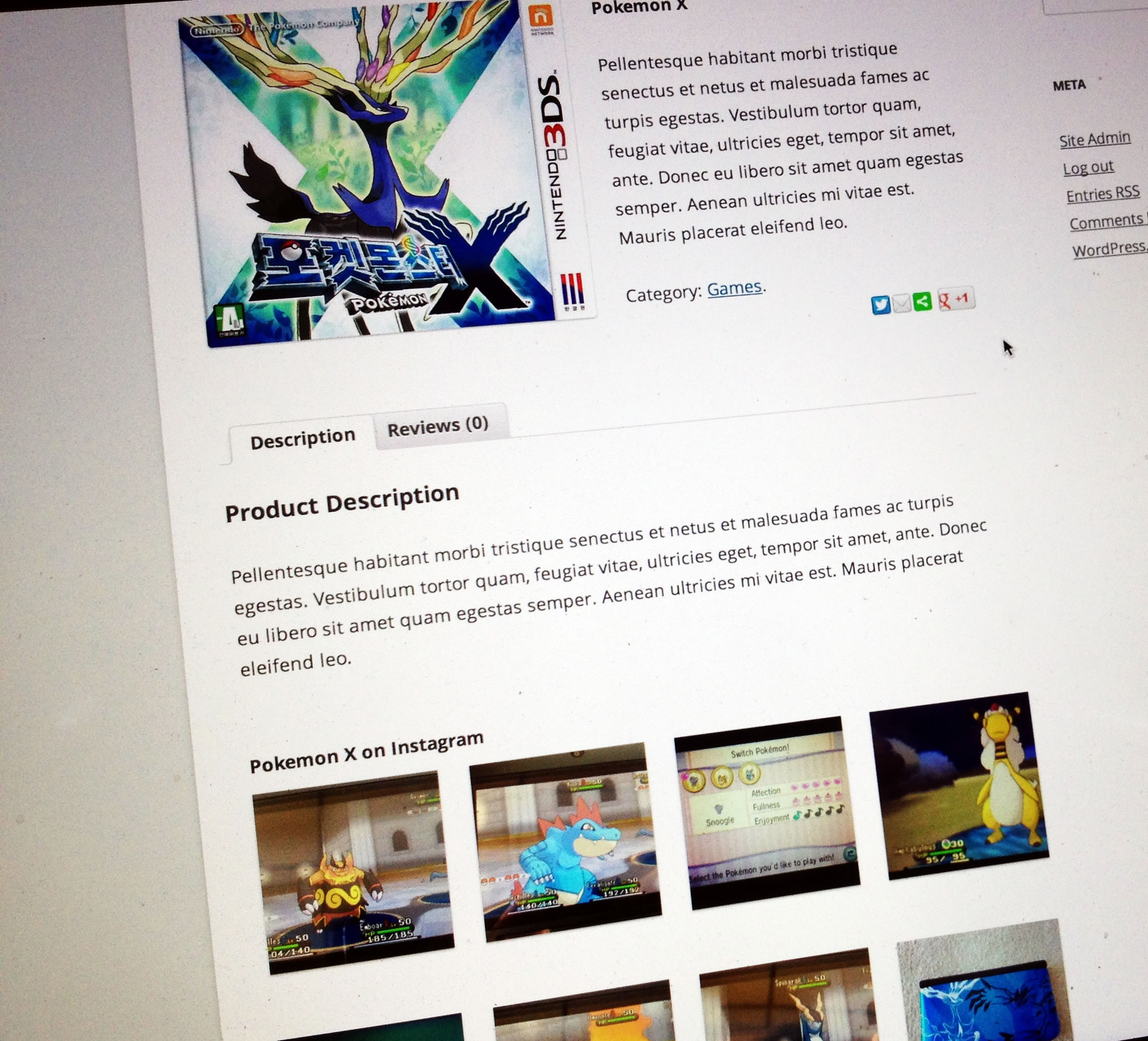 Display photos that include a particular Instagram hashtag on your product page