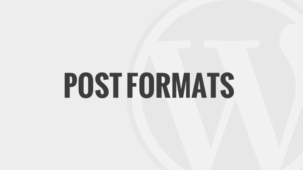 Post Formats